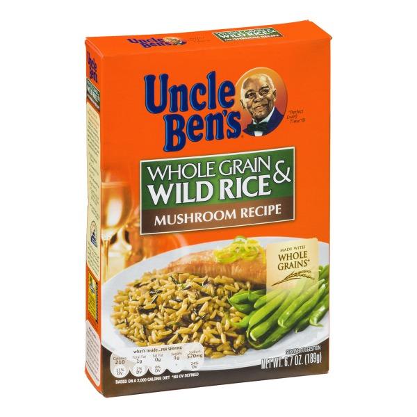 Stores > Uncle Ben's Long Grain & Wild Rice Mushroom Recipe