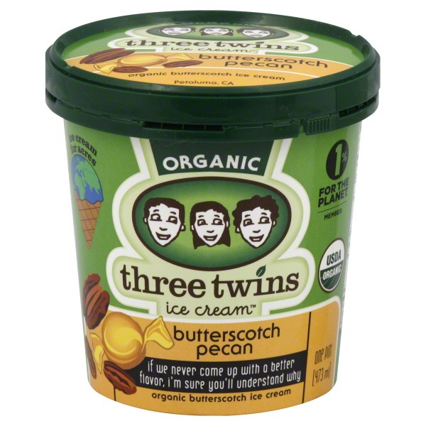 Three Twins Butterscotch Pecan Ice Cream