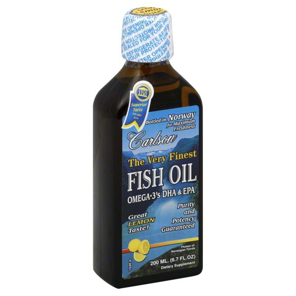 Carlson Labs The Very Finest Fish Oil Lemon Flavor From
