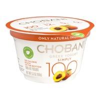 Chobani 100 Calorie Peach Non Fat Greek Yogurt