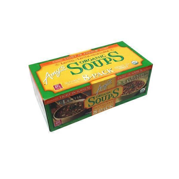 Amys Organic Soups Lentil Lentil Veggie 116 Oz 7 Lb From