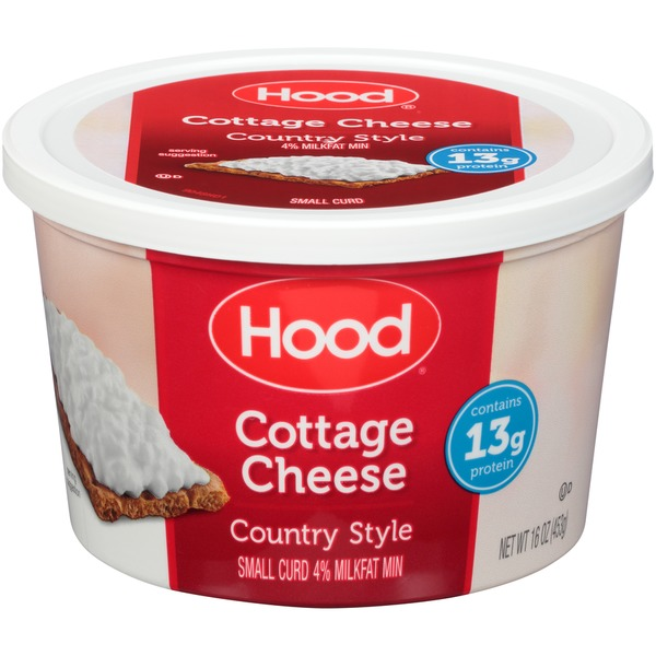 Exceptional Hood Country Style Small Curd Hood Country Style Small Curd Cottage Cheese