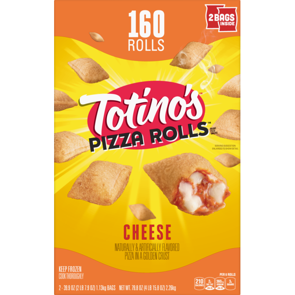 Totinos Pizzs Brand Cheese Pizza Snacks 399 Oz Instacart
