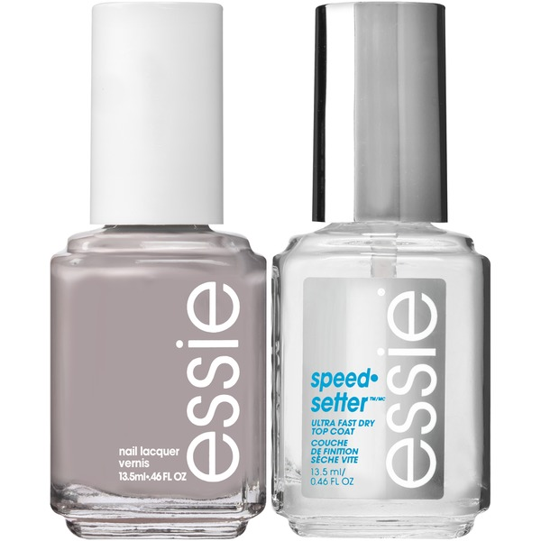 Essie® Without a Stitch Polish & speed.setter Top Coat Nail Polish ...