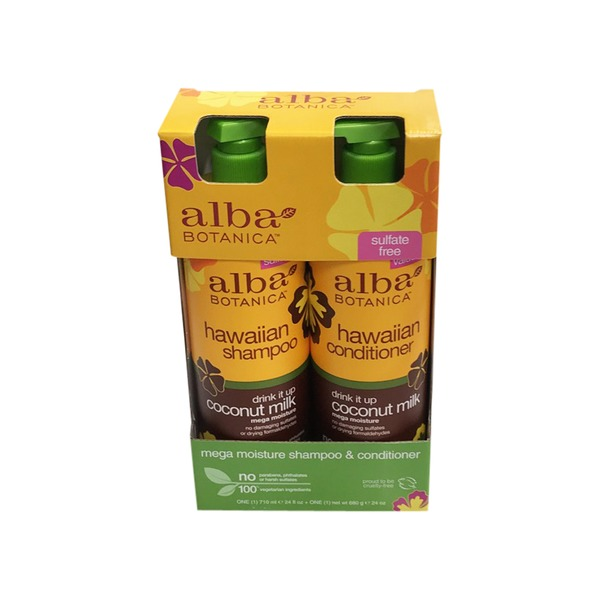 Alba Botanica Hawaiian Coconut Milk Shampoo & Conditioner