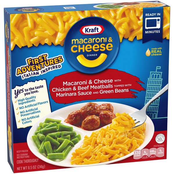 Kraft Macaroni Cheese Dinner With Chicken Beef Meatballs