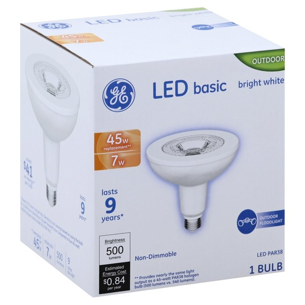 Ge Light Bulb Led Bright White 7 Watts 1 Each From King Soopers