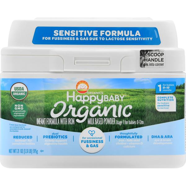 HappyBaby Infant Formula with Iron, Milk Based Powder ...