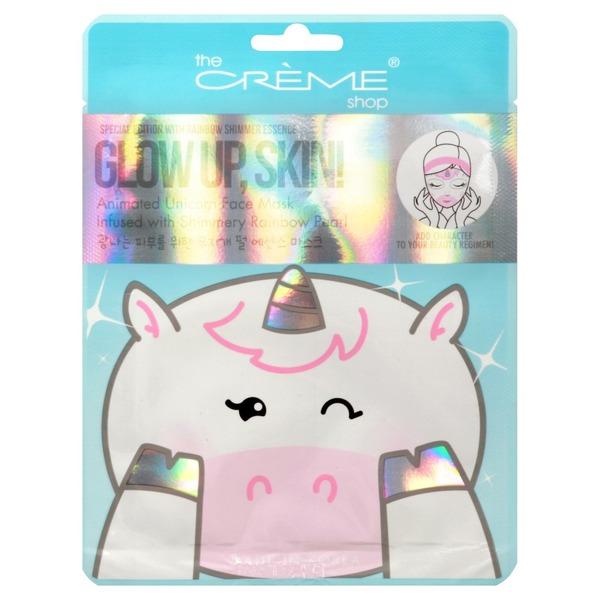 The Creme Shop Face Mask, Animated Unicorn, Glow Up, Skin