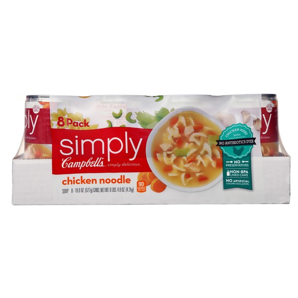 campbell's simply chicken noodle soup (18.6 oz) from