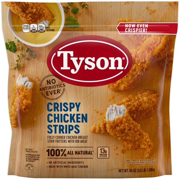 Tyson Tyson® Fully Cooked Crispy Chicken Strips, 3 5 lb