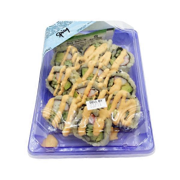 Afc Corp Fresh Spicy California Roll With Brown Rice 8 Oz