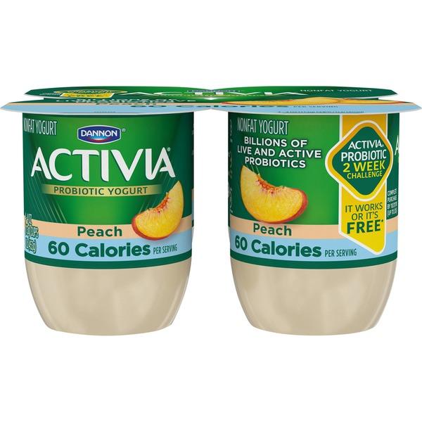 Activia Light Light Probiotic Blended Lowfat Peach Dannon Activia Light Probiotic Blended Lowfat Peach Yogurt