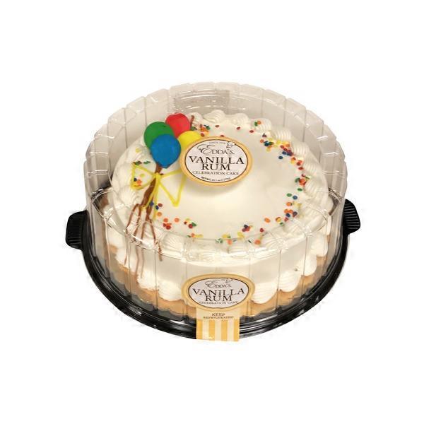 Astounding Eddas Vanilla Rum Celebration Cake 45 1 Oz Instacart Funny Birthday Cards Online Alyptdamsfinfo