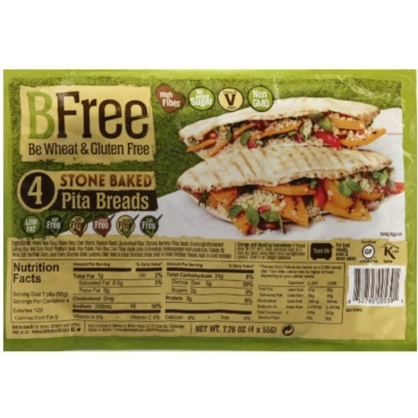 B Free Pita Breads, Stone Baked
