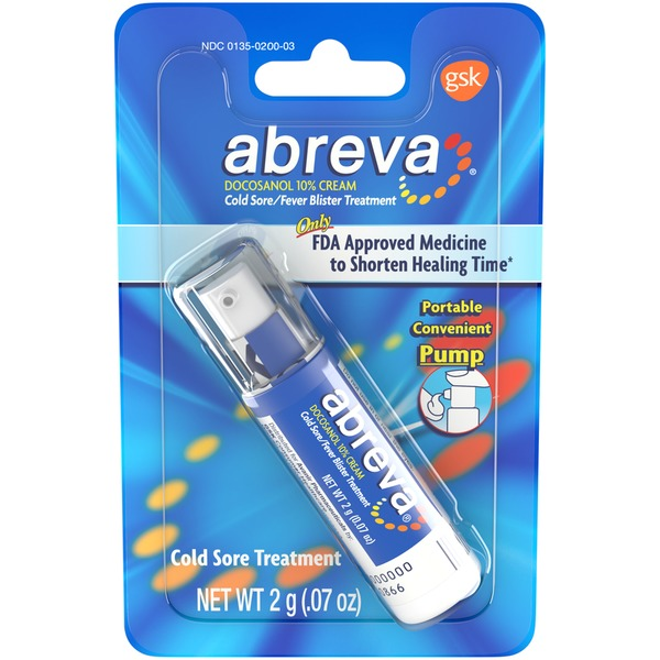 Abreva Cream Cold Sore/Fever Blister Treatment (0 07 oz