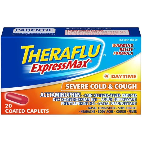 Theraflu Expressmax Daytime Coated Caplets Severe Cold