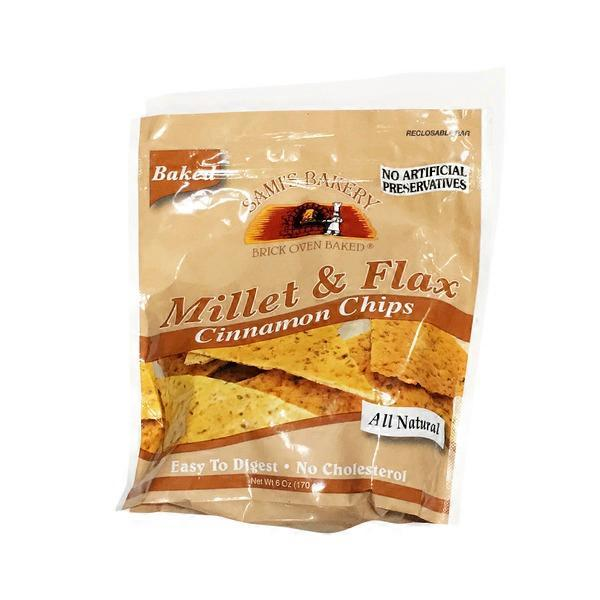 Sam's Bakery Cinnamon Millet & Flax Chips (6 oz) from