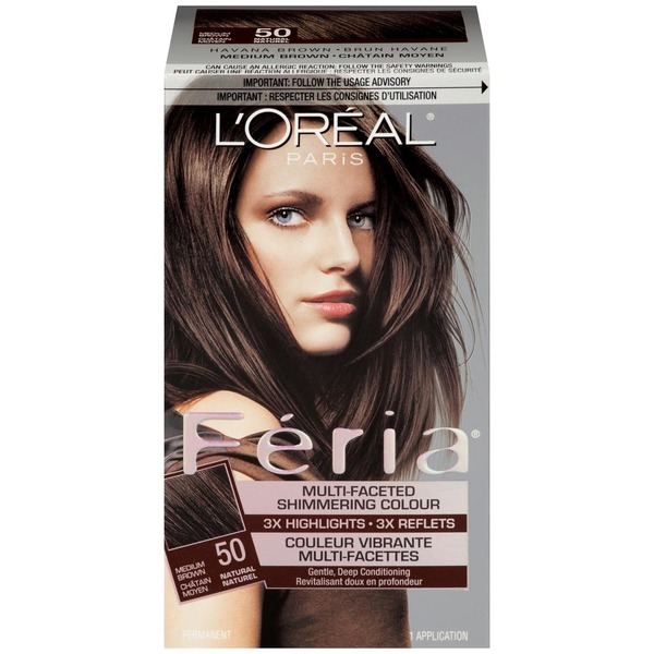 Feria Multi Faceted Shimmering Colour Medium Brown 50 Hair Color