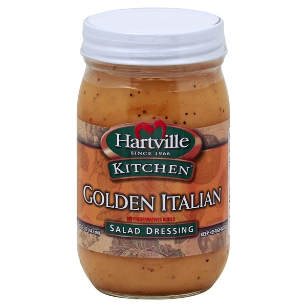 Hartville Kitchen Salad Dressing Golden Italian 15 Oz