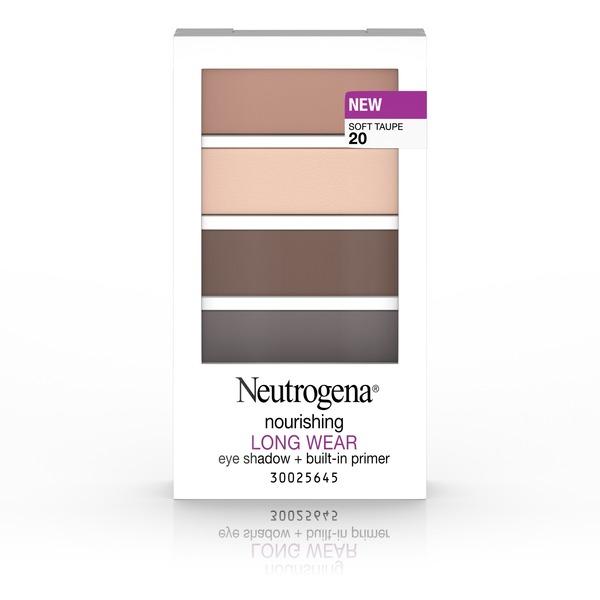 Neutrogena® Nourishing Long Wear Eye Shadow + Built-In Primer, 20 Soft Taupe