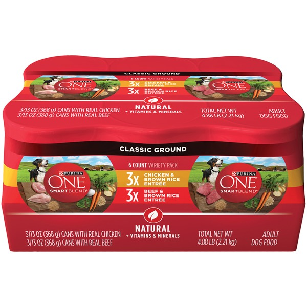 Purina One Dog Wet SmartBlend Classic Ground Entree Variety