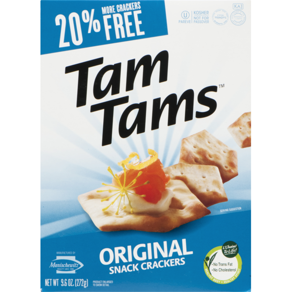 Tam Tams Manischewitz Original Snack Crackers (9 6 oz) from