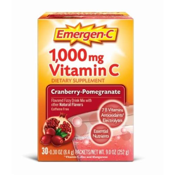 emergen c cranberry pomegranate vitamin c 1000mg drink mix dietary