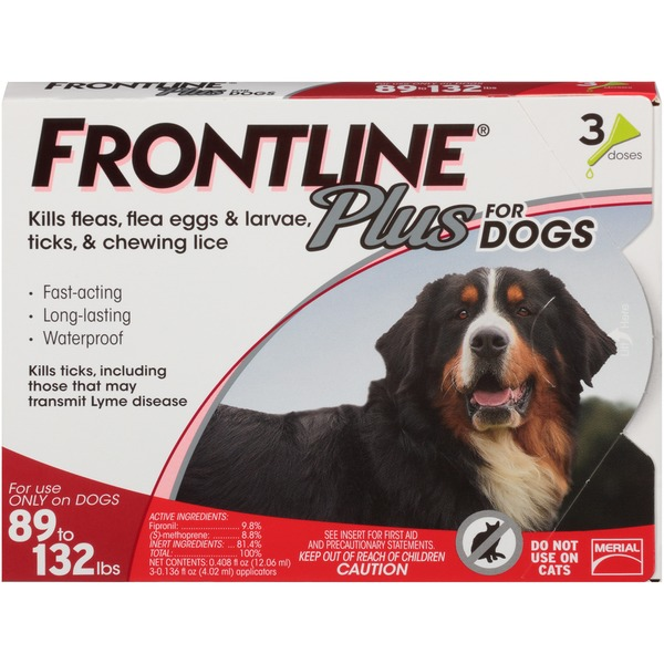 Frontline for Dogs 89 to 132 lbs  Frontline Plus for Dogs 89 to 132