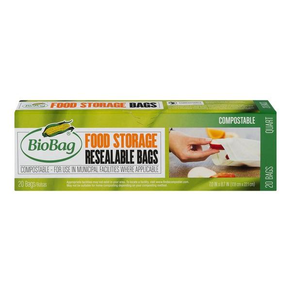 BioBag Resealable Bags Food Storage  sc 1 st  Instacart & BioBag Resealable Bags Food Storage (20.0 ct) from QFC - Instacart