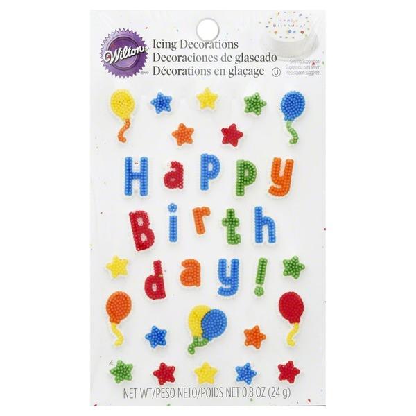 Wilton Icing Decorations Happy Birthday