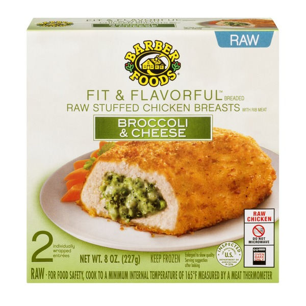 Barber Foods Fit Flavorful Raw Stuffed Chicken Breasts Broccoli