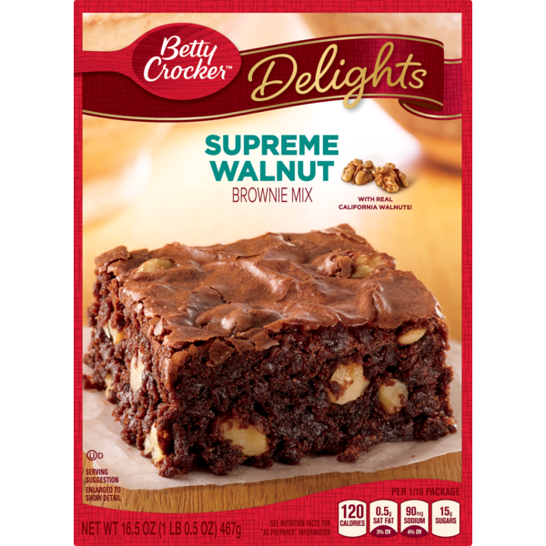 Betty Crocker Delights Supreme Walnut Brownie Mix From Giant Food