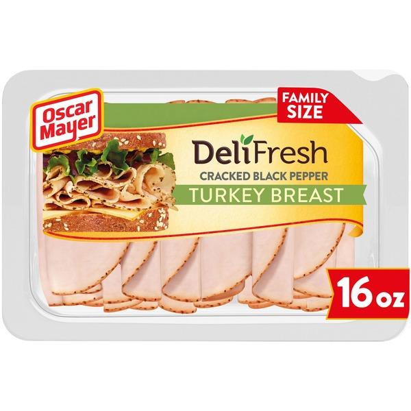 Oscar Mayer Deli Fresh Cracked Black Pepper Sliced Turkey Breast Lunch Meat
