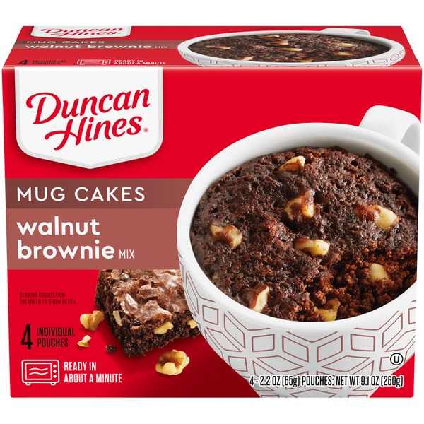 Duncan Hines Mug Cakes Walnut Brownie Mix (2 2 oz) from