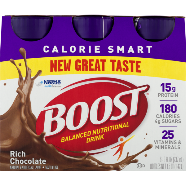 73bb4d8377690 Boost Balanced Nutritional Drink Calorie Smart Rich Chocolate from ...