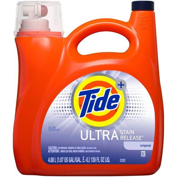 Tide HE Turbo Clean Liquid Tide Ultra Stain Release HE Turbo Clean Liquid  Laundry Detergent