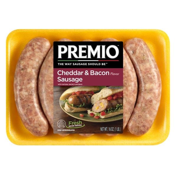 premio cheddar  bacon flavor sausage 16 oz  instacart