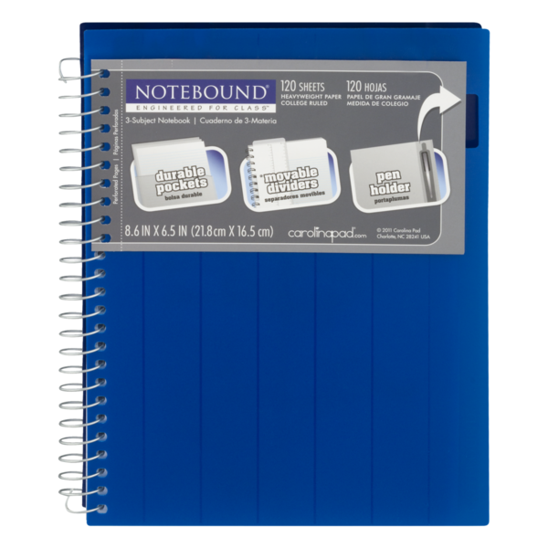 Notebound 3-Subject Notebook College Ruled (1 ct) from