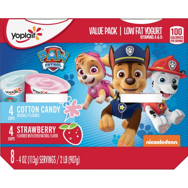 Yoplait Kid Yogurt Paw Patrol Variety Pack Of Strawberry And Cotton
