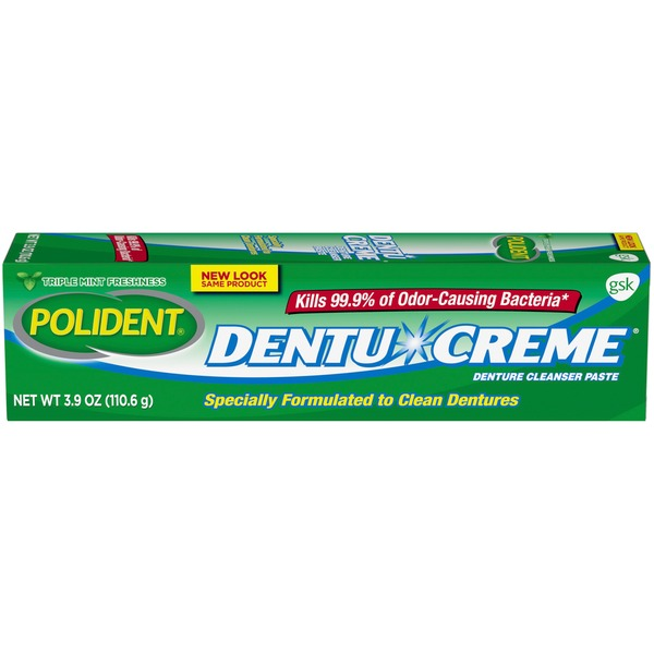 polident dentu creme triple mint fresh paste denture cleaning from