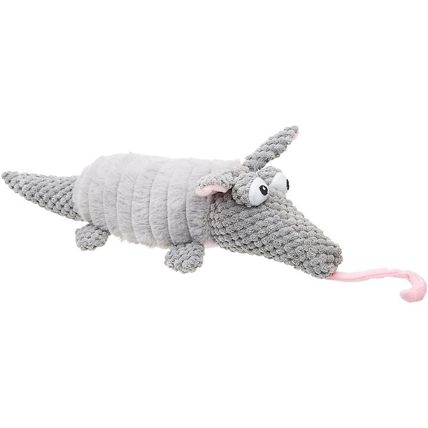 Petco Nubby Gray Armadillo Dog Toy 12