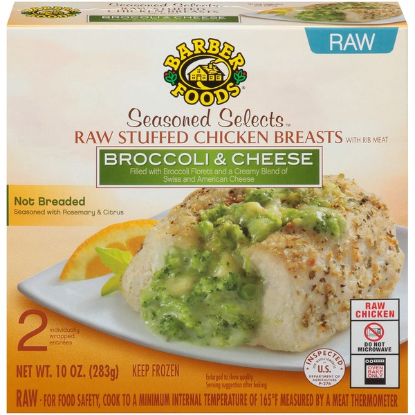 Barber Foods Seasoned Selects Broccoli Cheese Raw Stuffed Chicken