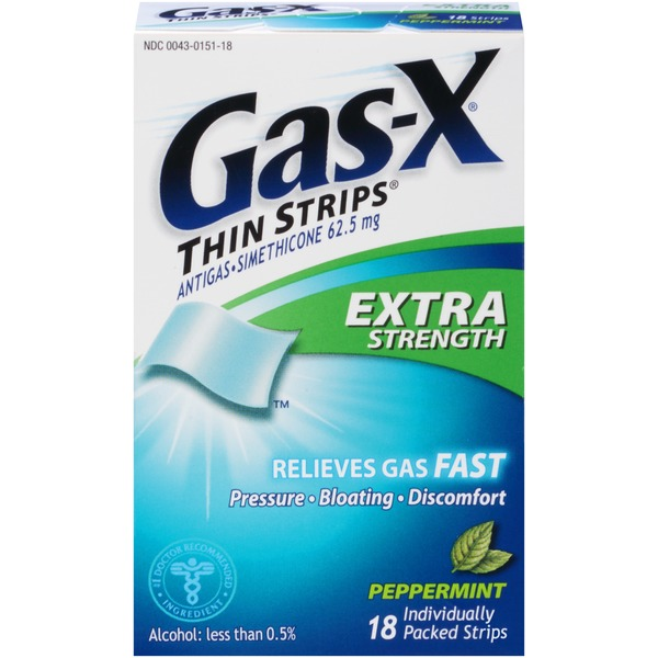 gas x extra strength peppermint thin strips antigas from cvs