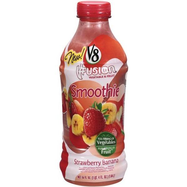 V-Fusion V8 V-Fusion Strawberry Banana Vegetable & Fruit Smoothie (36 fl oz) from Kroger - Instacart