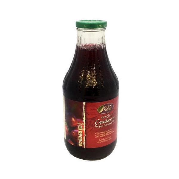 Open Nature 100% Cranberry Juice (1 L) from Albertsons