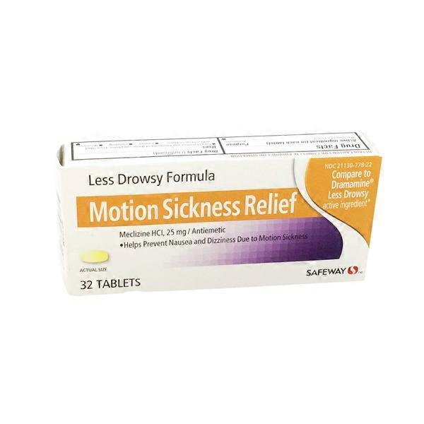 Safeway Motion Sickness Relief, Less Drowsy, Meclizine HCl
