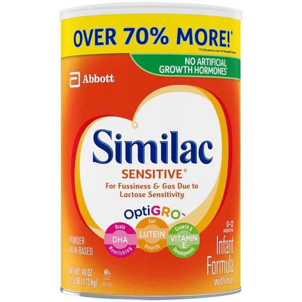 similac sensitive similac sensitive for fussiness and gas infant formula powder can - Formula For Gassy Babies