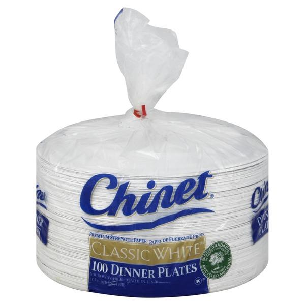 Chinet Classic White 10.38  Dinner Plates  sc 1 st  Instacart & Chinet Classic White 10.38