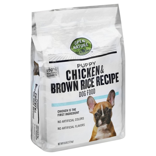 Open nature dog food chicken brown rice recipe puppy from open nature dog food chicken brown rice recipe puppy forumfinder Choice Image